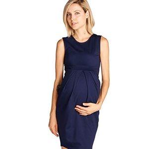 LaClef knee length midi maternity dress NWT